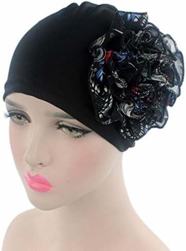 040efc0aa1e QingFan Multicolor Flower Pre Tied Bandana Head Scarf Hat Turban Headwear  Women Stretch Cancer