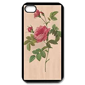 Generic FLOWER James TPU Cell Phone Cover Case for iPhone 4,4S AS1W8249563