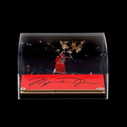 473ccc16800 Michael Jordan Autographed Bulls 3x10 Game-Used Floor Piece with