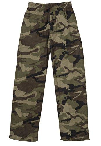 Fleece Pajama Pants Boys (North 15 Boys Cozy Micro Fleece Camouflage Pajama Pants-1227B-2-18)