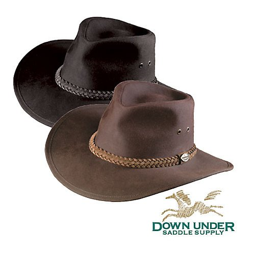 Down Under Australian Oilskin Hat Brown - Australian Oilskin