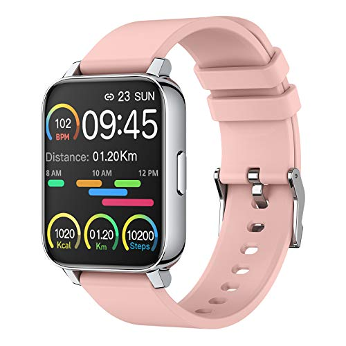 Smart Watch for Women and Men 1.69 inch Touch Screen Fitness Tracker Watch IP67 Waterproof Smartwatch with Heart Rate…