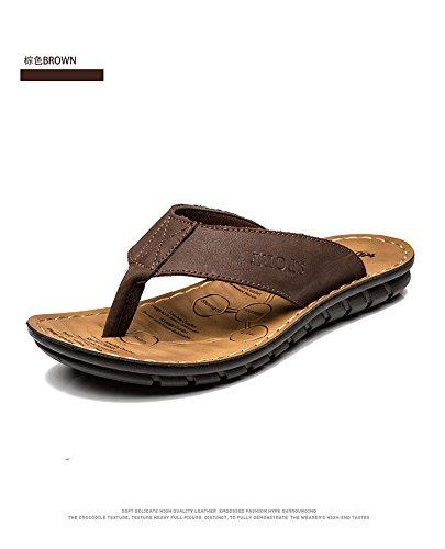 Pantaloni da spiaggia delle scarpe da spiaggia delle donne di estate degli uomini di estate degli uomini Dermal, Brown, UK = 9,5, EU = 44