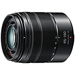 PANASONIC LUMIX G VARIO LENS, 45-150MM, F4.0-5.6 ASPH., MIRRORLESS MICRO FOUR THIRDS, MEGA OPTICAL I.S., H-FS45150AK (USA BLACK)