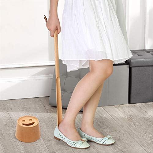 軽量 プレミアムエクストラロング木製靴べらのためにメンズ・レディース・キッズブーツ&すべてのシューズを扱いました 耐用 (Color : Wood, Size : 60*3.5cm)