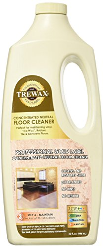 Wax Vinyl Floor - Trewax Vinyl, Rubber And No Wax  Neutral Floor Cleaner, 32-Ounce