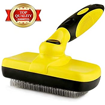 Professional Self Cleaning Slicker Brush for Pets (Dogs, Cats, Others), Rugs, and Others - Ergonomic Soft Grip Handle - Reduces Shedding and Eliminate Mats, Tangles and Hairballs – Brush by Prime Pet
