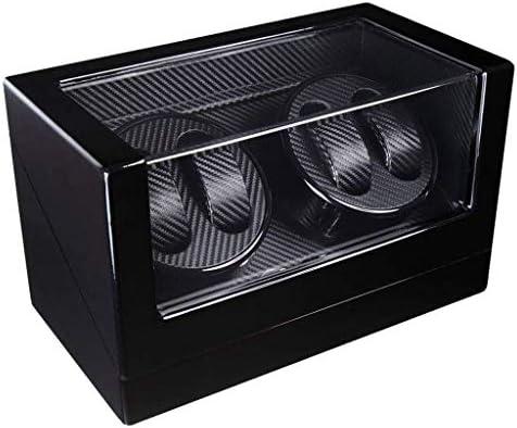 自動時計ワインダー4時計ディスプレイボックス収納ケースピアノペイント時計回転子プレミアムサイレント時計炭素繊維