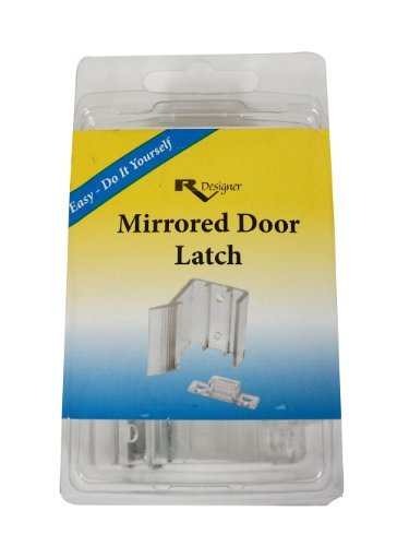 RV Sliding Mirror Door Latch Motorhome Mirror Door Replacement Latch with  Hardware (2 Pack)