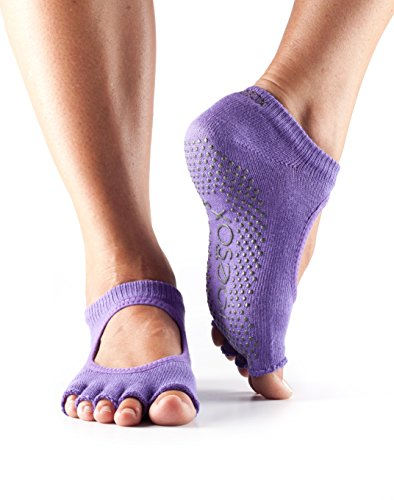 ToeSox Women's Grip Half Toe Bella Socks, X-Small, Light - Aesthetic Purple