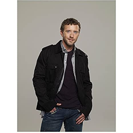 Bones T.J. Thyne as Dr. Jack Hodgins Posing in Black Jacket and Jeans Hands  in d6c507a48a7