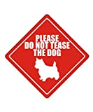 Please do not tease the dog Norwich Terrier - Dogs [ Decorative Crossing Sign Wall Plaque ]