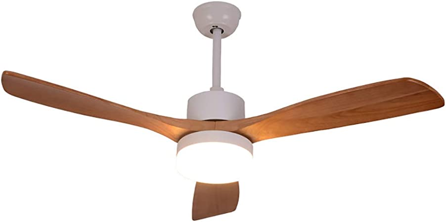 TAIDENG - Lámpara LED de Madera Maciza para Ventilador de Techo ...