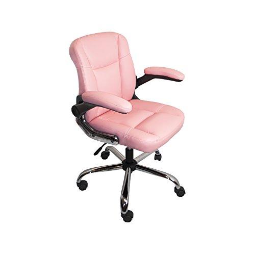ALEKO ALC2155PN PU Leather Ergonomic Office Desk