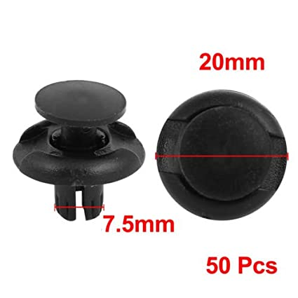 SaiDeng 8mm Rivet Clips Front Fender Push-Type Retainer Clips Black Plastic Fasteners 91501-S04-003 for Honda Acura - 30 Pcs