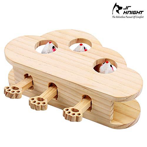 JR Knight Katzenspielzeug Interaktives Spielzeug Intelligenzspielzeug für Katzen mit Maus massives Maulwurfspiel Puzzle…