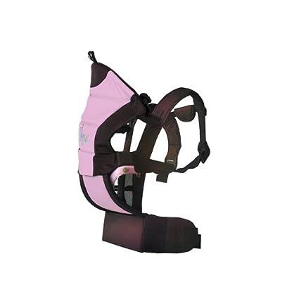 Kiokids 1020 – Mochila portabebés/Mochila para 3 posiciones, color rosa/marrón