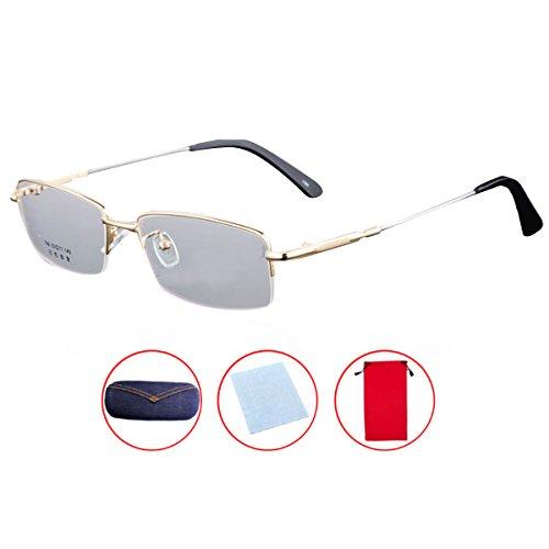 Mily Titanium Metal Frame Glasses Prescription Lens Eyeglasses With Bendable Glasses - Frames Eyeglass Interchangeable With Lenses