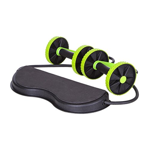 Jungle Sport™ Ab Roller Pro Carver; Core Muscle Exercise Trainer (with training guide)