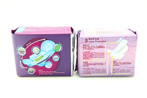 5 Pack Winalite Winion Anion Night Napkin With 5 Pack Prettie Energy Sanitary Night Use Pad With Wing by Winalite (Image #1)