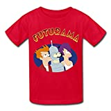 Kid's Designer Futurama Logo T-shirts Size S Red By Mjensen