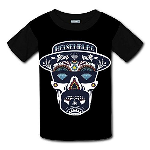 Heisenberg Kid Costume (Dimond Eyes Skull T-shirts Tee Shirt for Kids Tops Costume Round Black XL)