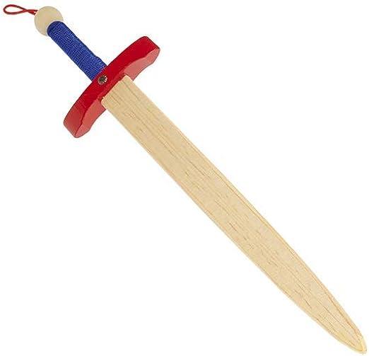 Juguetutto - Espada Caballero Medieval - Rojo. Juguete de Madera: Amazon.es: Hogar