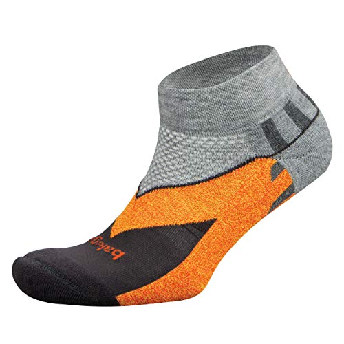 Balega Enduro V-Tech Low Cut Socks For Men and Women (1 Pair), Midgrey/Carbon, X-Large