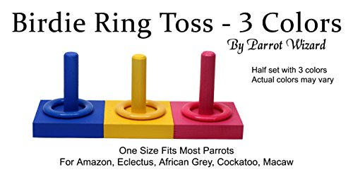 Birdie Ring Toss - 3 Color Medium Ring on Peg Trick by Parrot Wizard