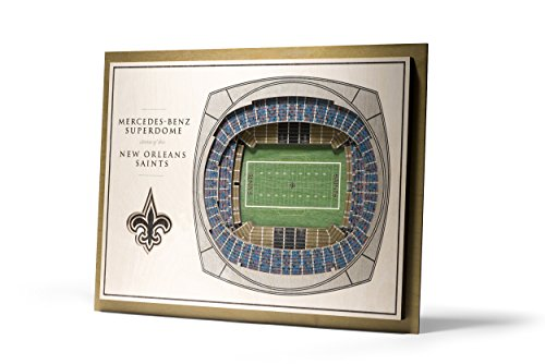 NFL New Orleans Saints 5-Layer Stadiumviews 3D Wall Art