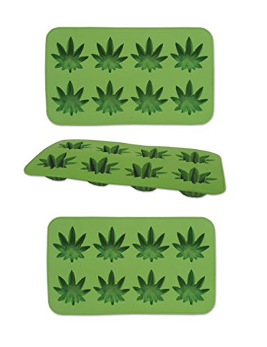(Beistle 59932, 3 Piece Weed Ice Molds, 9