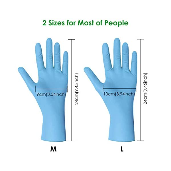 200 Pcs Nitrex Nitrile Disposable Gloves Medium Professional Protection Latex Free Powder Free Strong Work Food Safe Cleaning Waterproof Wear