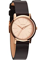 Nixon A398-1890 Ladies Kenzi Leather Rose Gold Brown Watch