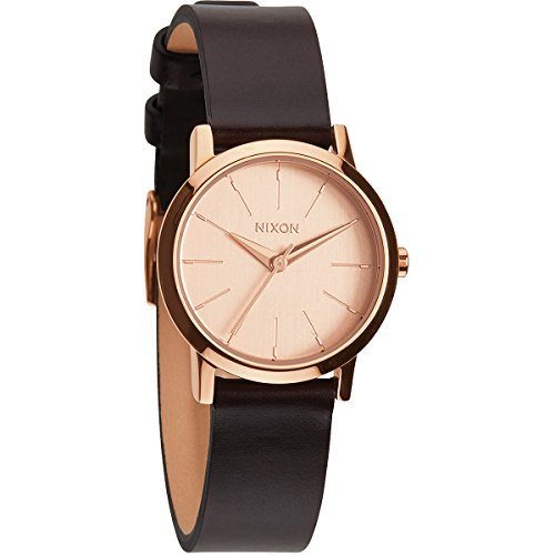 Nixon Women s Analogue Quartz Watch with Leather Strap A3981890-00