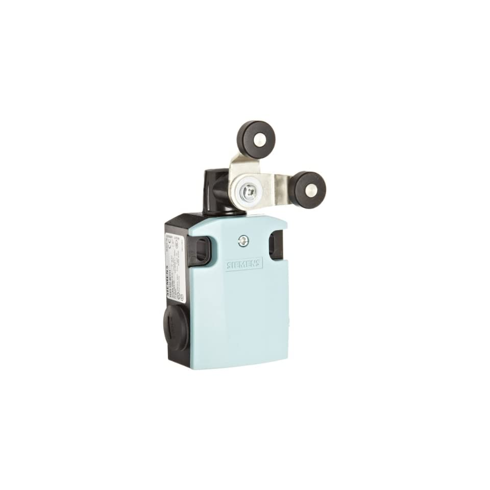 Siemens 3SE5 122 0CT11 International Limit Switch Complete Unit, Fork Lever, Latching, 56mm Metal Enclosure, Metal Lever, 2 x 19mm Plastic Roller, Snap Action Contacts, 1 NO + 1 NC Contacts