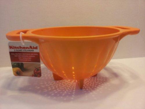 KitchenAid Tangerine Orange Soft Grip 3 Quart Colander