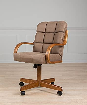 Casual Dining Cushion Swivel and Tilt Rolling Caster Chair