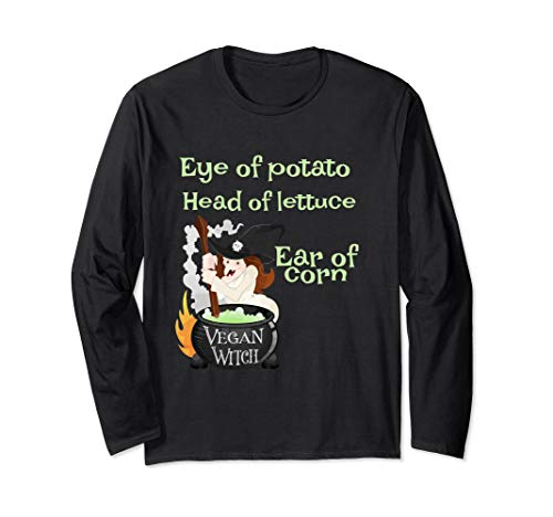 Funny Vegan Witch Tee Vegetarian Witch Costume Plant Eaters