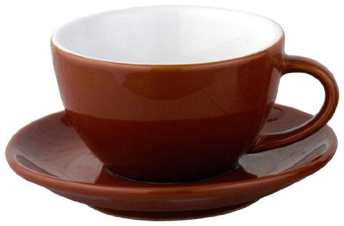 European Gift and Houseware Italian Style Moka Cafe Cappuccino Cups, 7-Ounce, Set of -