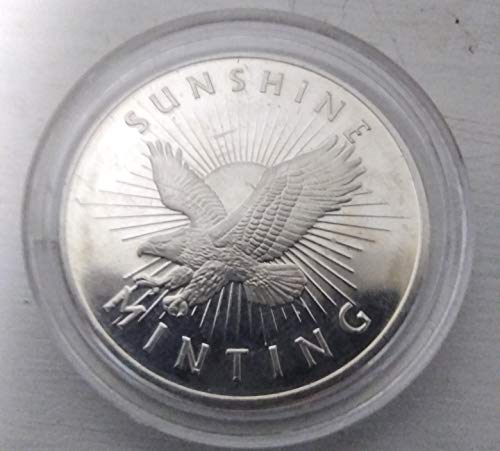 Sunshine Minting Silver Round 1 Troy Oz of .999 Silver,