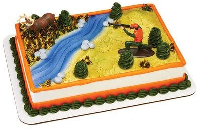 Astounding Amazon Com Deer Hunting Birthday Cake Kit Kitchen Dining Personalised Birthday Cards Veneteletsinfo