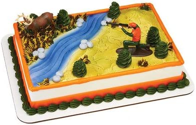 Fabulous Amazon Com Deer Hunting Birthday Cake Kit Kitchen Dining Funny Birthday Cards Online Barepcheapnameinfo