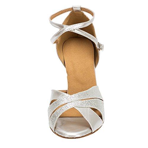 Danse Heel Femme Salon Miyoopark Silver de MiyooparkUK 7cm HW180506 5 Argenté 36 zwqc7USET1