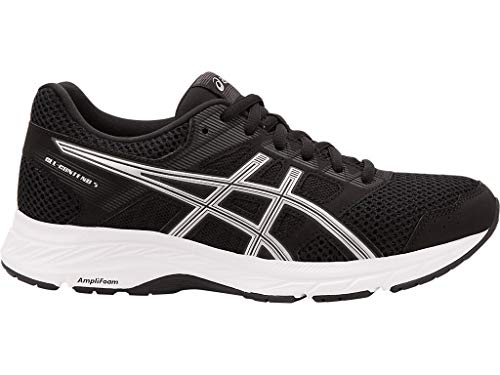 ASICS Women's Gel-Contend 5 Running Shoes, 8M, Black/Silver