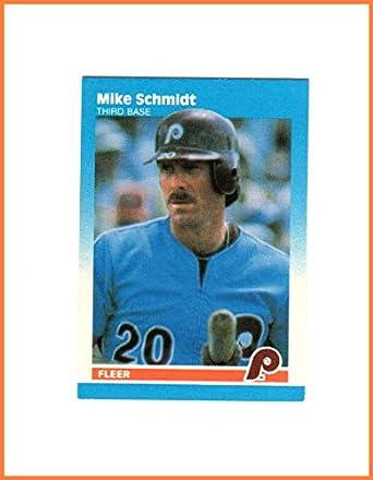 MIKE SCHMIDT HOF PHILADELPHIA PHILLIES 1987 FLEER MINI  97 Vintage at  Amazon s Sports Collectibles Store 077686f8e