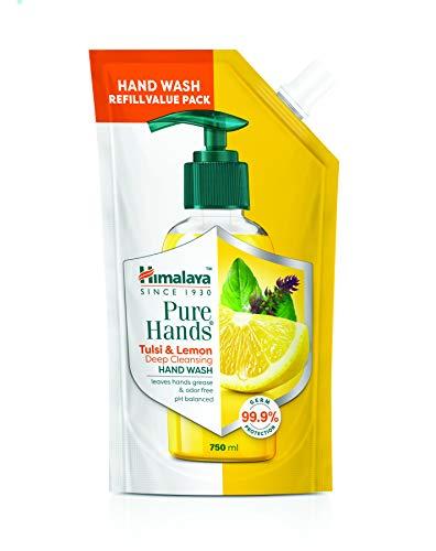 Himalaya Pure Hands | Deep Cleansing Tulsi and Lemon Hand Wash Refill – 750 ml