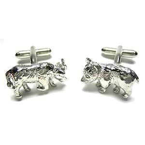 Wall Street Bull & Bear Cufflinks
