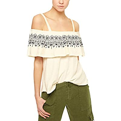 Sanctuary Womens Helena Cotton Ruffled Tank Top
