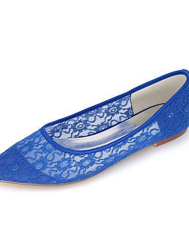 ZQ mujer-tac ¨ ¨ ® n plano-puntiagudos-bailarinas-boda/Kleid/Party und noche-sint ¨ mujer-tac ¦ tico-negro/Blau/Pink/Elfenbein/Weiß/Orange - 9acc67