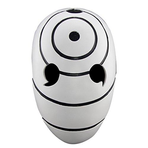 [YUFENG Resin Halloween Collector Masks Masquerade Ball Face Mask Adult Party Cosplay Props Resin Tobi Obito Naruto Uchiha (uchiha zone] (Family Guy Masks Costumes)